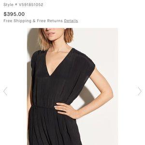 Vince Crinkle Pleat Dress Size Medium